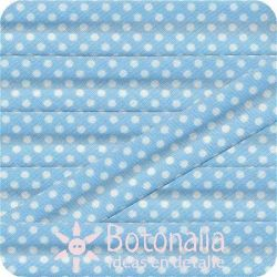 Bias tape polka dots light blue