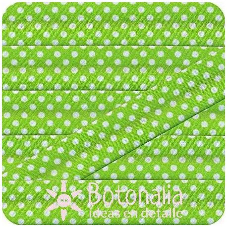 Bias tape polka dots in green