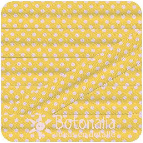 Bias tape polka dots yellow