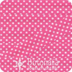 Bias tape polka dots in dark pink