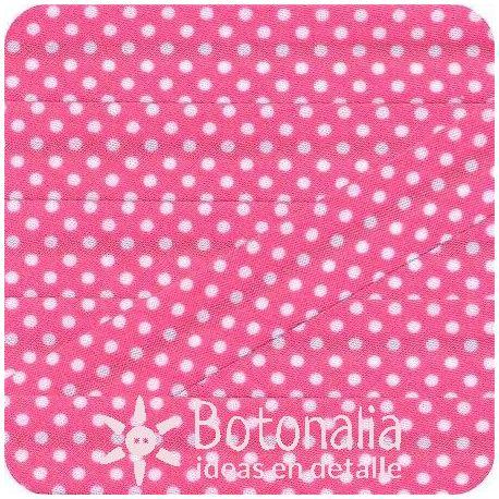 Bias tape polka dots in dark pink