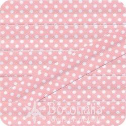 Bias tape polka dots in light pink