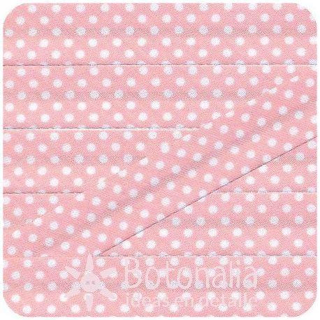 Bias tape polka dots in light pink