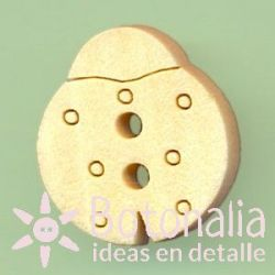 Mariquita madera 16 mm