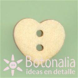 Wooden heart 12 mm