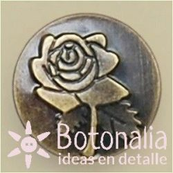 Jeans button with a flower 20 mm