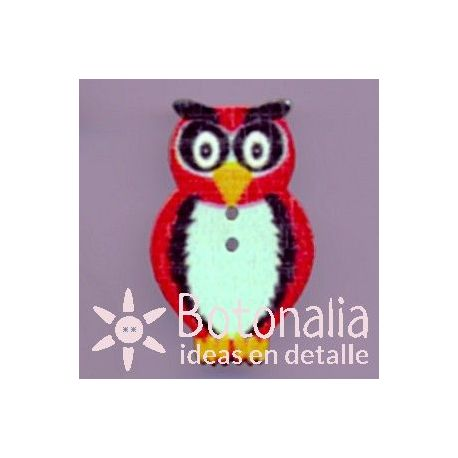 Owl in red 33 mm