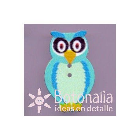 Owl in blue 33 mm
