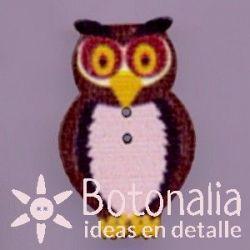 Owl in brown 33 mm