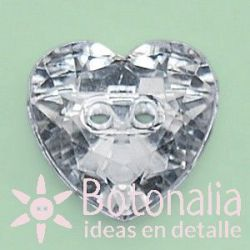 Faceted heart 12 mm