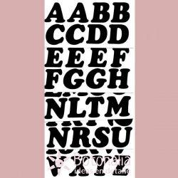 Letras termoadhesivas negras - Hemline