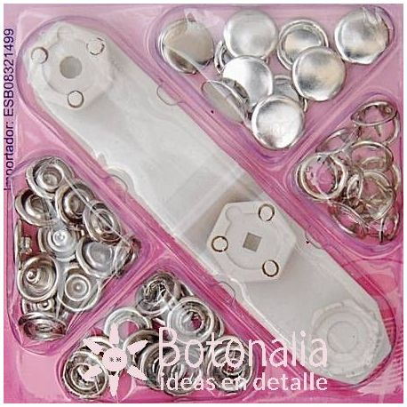 12 snap fasteners full nickel 11 mm