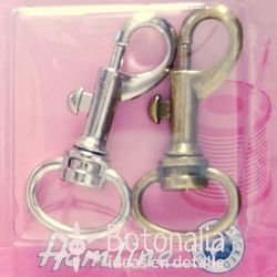 2 carabiners for belt of 20 mm