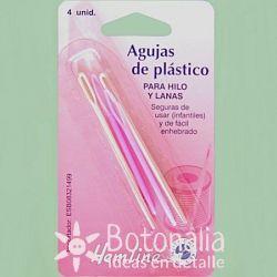 4 agujas de plástico