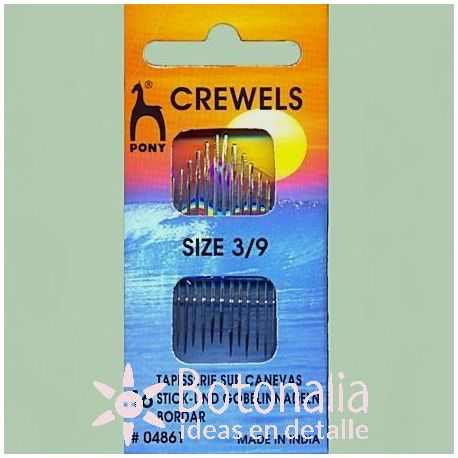 16 crewel needles for embroidery