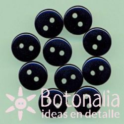 10 botones negros 9 mm