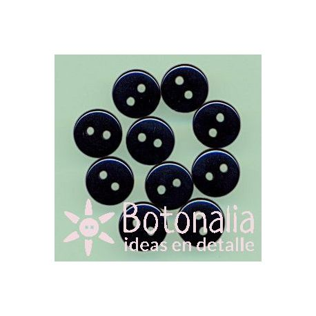 10 black buttons 9 mm