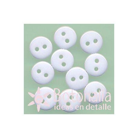 10 botones blancos 9 mm