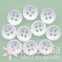 10 white buttons 10 mm