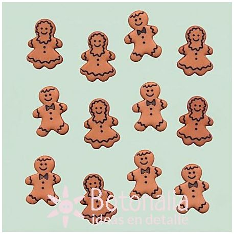 Dress-it-Up - Gingerbread cookies 18 mm