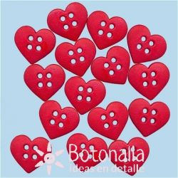 Dress-it-Up - Red hearts 18 mm