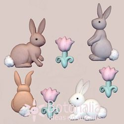 Dress-it-Up - Easter - Cotton Tails