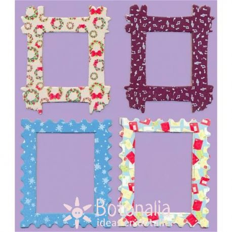 16 decorated wooden frames Winter Woodland