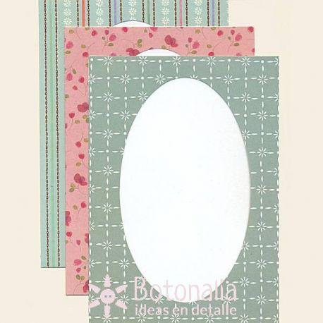 Lillibet - 12 tarjetas con ventana elíptica