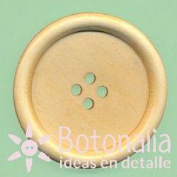 Round wooden button 40 mm