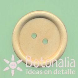 Round wooden button 30 mm