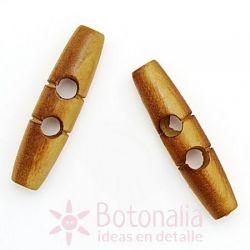Botón trenca madera tallada 50 mm beige
