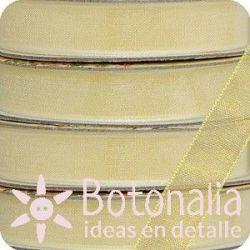 Santoro Mirabelle - Yellow organza ribbon