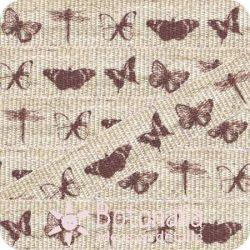 Santoro Mirabelle - Printed ribbon butterflies