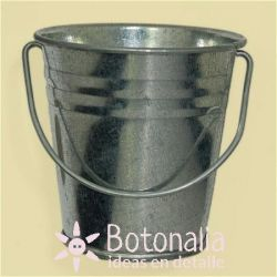 Mini metal bucket 6 cm