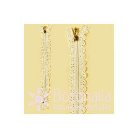 Novelty zipper 22 cm - Ivory