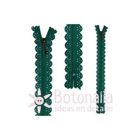 Novelty zipper 22 cm - Green