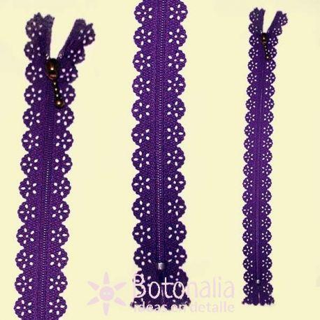 Novelty zipper 22 cm - Purple