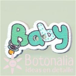 Button 'Baby' in blueish green