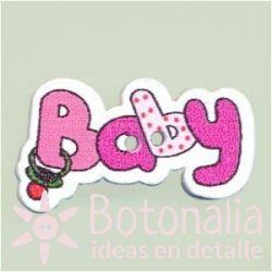 Botón 'Baby' rosa fuerte