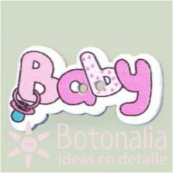 Botón 'Baby' rosa suave