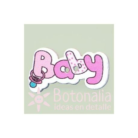 Button 'Baby' in light pink