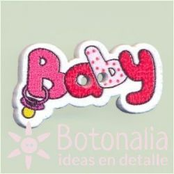 Button 'Baby' red