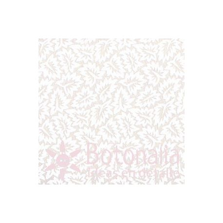 Fat Quarter - Leaves - Ivory