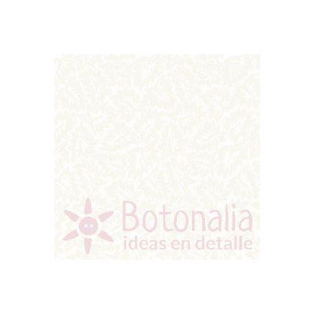 Fat Quarter - Hojas - Blanco