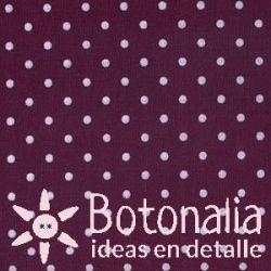 Fat Quarter - Polka dots - Eggplant