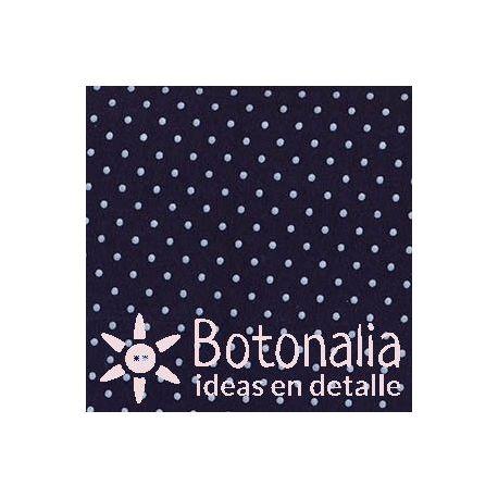 Fat Quarter - Polka dots - Dark blue