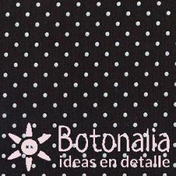 Fat Quarter - Polka dots - Black
