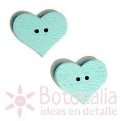 Heart Light blue 20mm