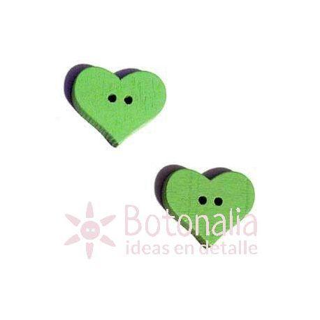 Heart Green 20mm