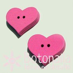 Corazón Rosa 20mm